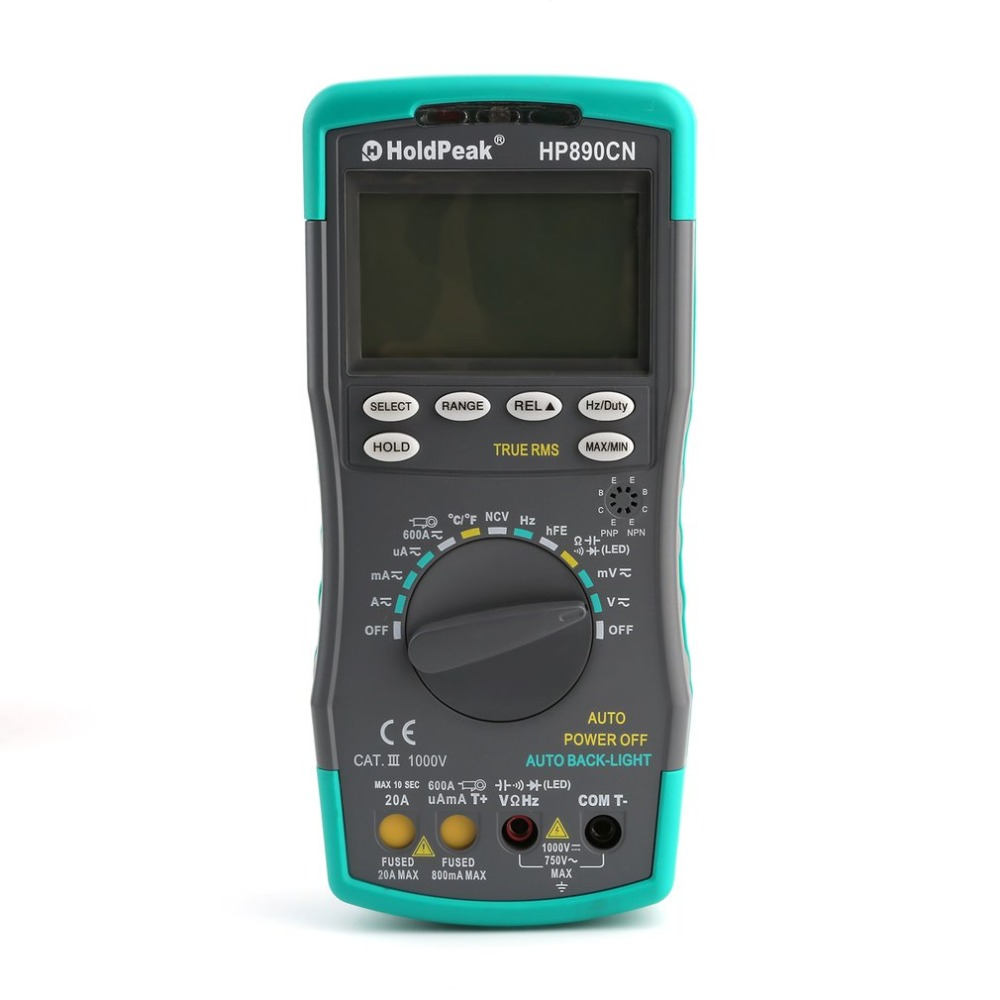 HP890CN Stable LCD Digital Multimeter DC AC Voltage Current HP-890CN Temperature Meaurement Auto Range Multimeter wozniak best v96e lcd digital automatic speech broadcast auto range digital multimeter full protection ac dc