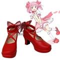 Anime Puella Magi Madoka Magica Kaname Madoka Cosplay Red Shoes Custom-made