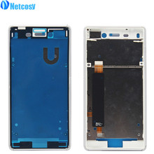 Netcosy Middle Mid Plate Frame Bezel Housing Cover for Sony Xperia M4 Aqua E2303 E2333 E2353 Middle Frame Board Repair Parts