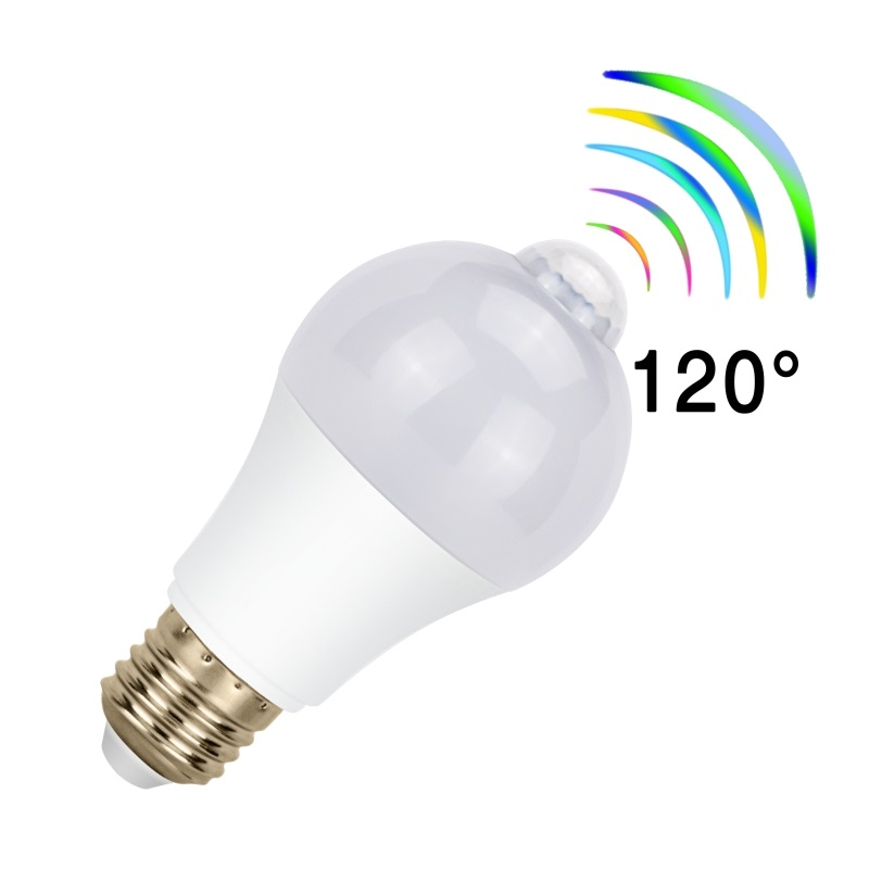 2PCS LED <font><b>Emergency</b></font> <font><b>Light</b></font> <font><b>Bulb</b></font> AC 85-265V 5W 7W 9W 12W Motion Detector LED <font><b>Bulb</b></font> Lamp E27 Stair Hallway Pathway Lighting Lampada image