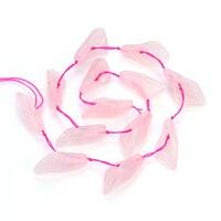 13 cái 14*28 mét Đá Tự Nhiên Obsidian Rose Quartzs Hạt Vòng Cổ Vòng Tay Trumpet Loose Spacer Beads Đối Với Trang Sức làm F5156