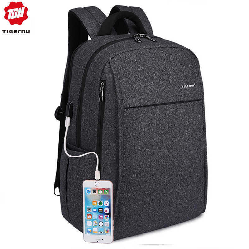 f3c4ae2f5f06 2018 Tigernu Anti theft USB charging Men 15.6inch Laptop Backpack Women Backpack  Mochila School Backpack