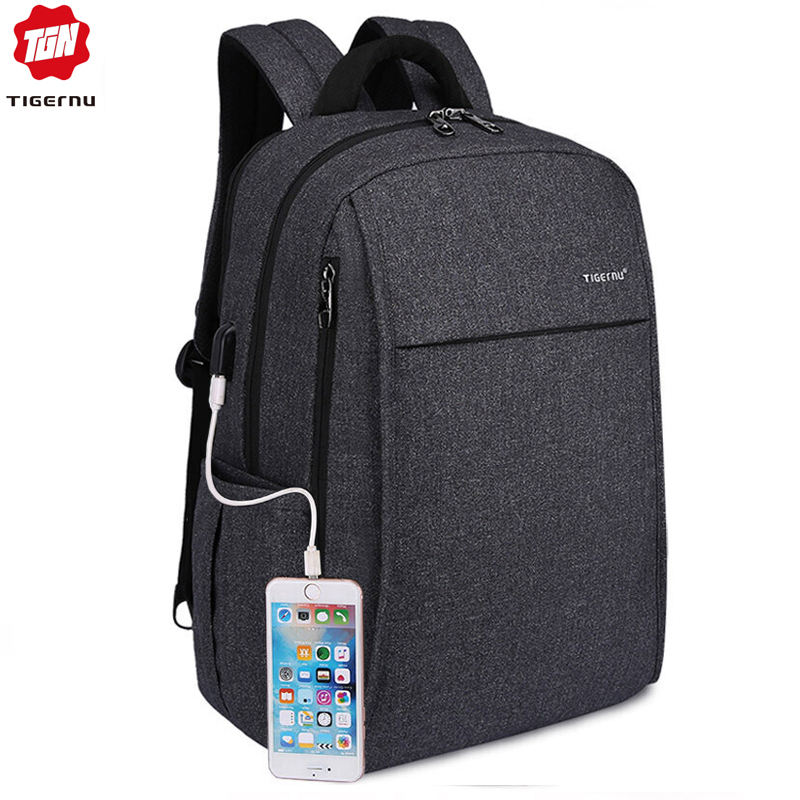 bbe59a2c29 Tigernu Anti theft USB charging Men 15.6inch Laptop Backpack Women Backpack  Mochila School Backpack Bag Casual Laptop Bag-in Backpacks from Luggage    Bags ...