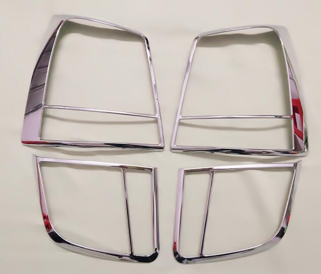 Car Styling For Kia Sorento 2010 2011 ABS Chrome Exterior Taillight Cover Trims Rear Light Lamp Frames Protector 4Pcs