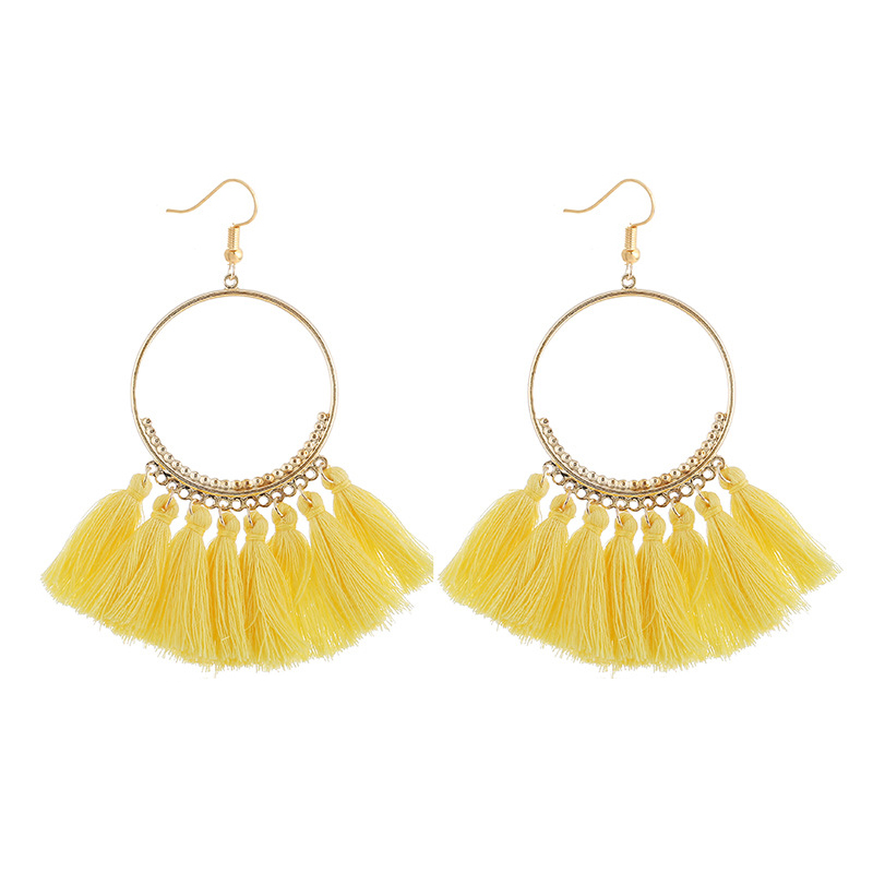 cjh002 Christmas Hoops Tassle Tassel Earrings Drop Fringe Earrings