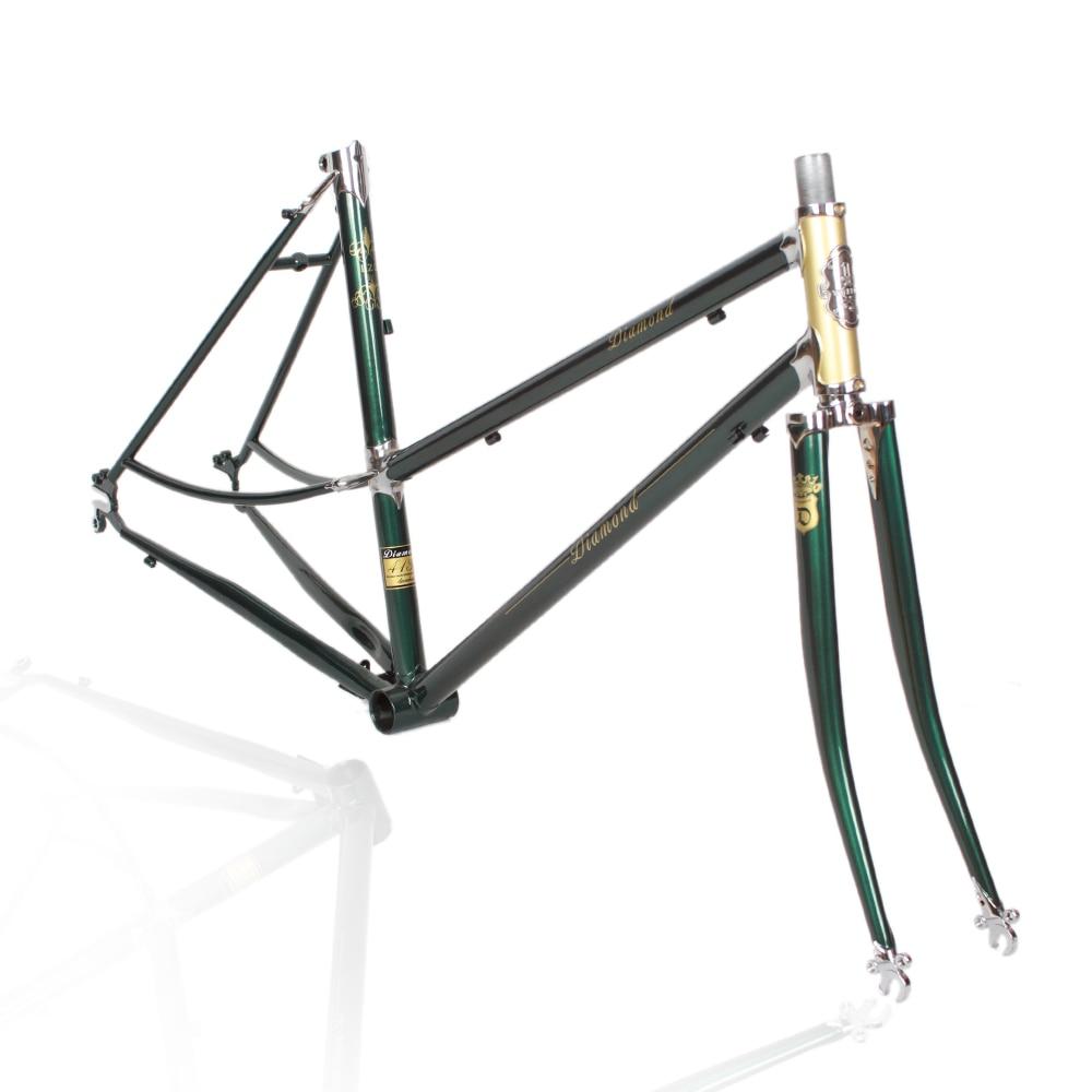 LUG 520 frame chrome-molybdenum steel road Vintage Bicycle Frame Reynolds frame Customize frame 700c frame chrome molybdenum steel lug 520 road bike frame vintage bike frame fork reynolds frame