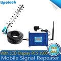 Alta Quliay 1 Conjunto Display LCD Repetidor PCS, PCS 1900 mhz Impulsionador Repetidor De Sinal de celular, PCS 1900 mhz Amplificador Repetidor
