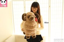 huge lovely plush sheep toy creative brown goat doll toy gift about 60cm