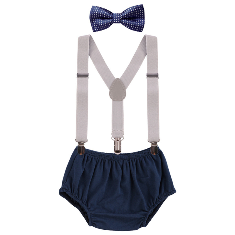 Baby Clothes For Boys And Girls Birth Cake Smash Outfit For Photo Shoot Cute Baby Boy Suspender Outfit 1st Birthday Girl Clothes