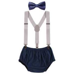 Baby Clothes for Boys and Girls Birth Cake Smash Outfit for Photo Shoot Cute Baby Boy Suspender Outfit 1st Birthday Girl Clothes(China)