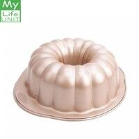 MYLIFEUNIT 10 Inch Nonstick Bundt Cake Pans Bread Cake Pumpkin Shape Baking Mold