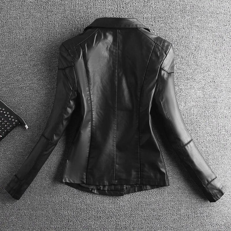 Manteau Femme Noir Noir Veste Mince Mode En Cuir Printemps Vêtements Moto Rouge Femmes Et Courte rouge Automne 2019 De Survêtement ZwZRTUqr