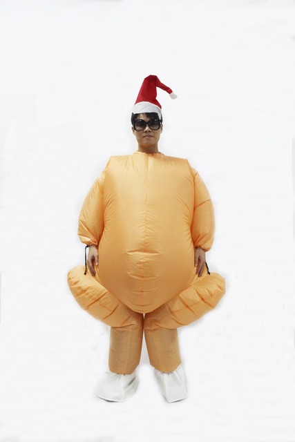 Inflatable Roast Turkey Costume Halloween Chicken For Adults Inflatable Christmas Fancy Dress ...