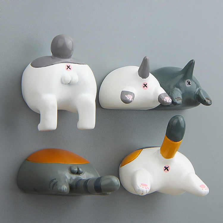 Japão Gato Bunda Bunda Aciton Figura Dos Desenhos Animados 3D Ímã Padrão Dos Desenhos Animados Ímã de Geladeira Adesivos Crianças Brinquedo Educativo Presente de Aniversário