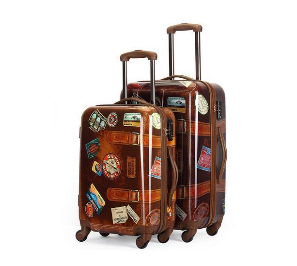20,24 новое британский материал пк ретро чемодан ретро valiz старинные прокатки багаж