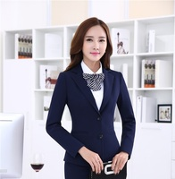 New Novelty Slim Fashion Long Sleeve 2015 Autumn And Winter Formal Business Blazers Professional Jackets Women Blaser Tops Coat