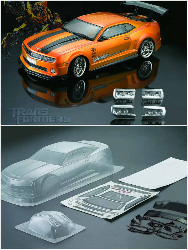 Auto Pc Clear Body Shell 190 Mm Cchervolet Camaro Drift Platte Yokomo Hpi 1/10 Rc Onroad Ras Fouring Redcat Hsp kyosho