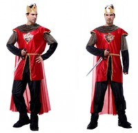Adult Party Cosplay Costumes King Of Arab Fancy Dress Halloween Costumes For Men Medieval Warrior Carnival