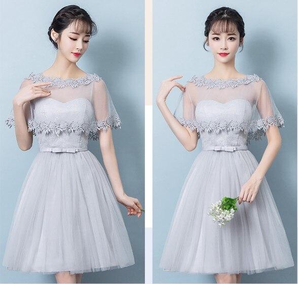 3544e8a5e3a Sweet Memory short bridesmaid dresses Pink Gray adult and junior bridesmaid  dress SW0012 wholesale