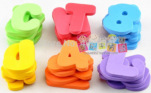 bath letter numbers digital stickers children bath toy floating foam water toychina