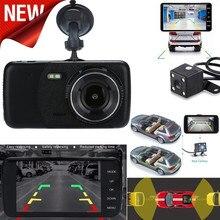 Kongyide парковочные датчики резервная камера парктроник парковка для автомобиля 4 ''lcd ips Двойной объектив Автомобильный видеорегистратор 1080P 170 Вождение 19May2
