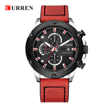 CURREN Mens Watches To Luxury Brand Men Leather Sports Quartz LED Digital Clock Waterproof Military Wrist Watch