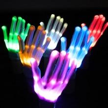 1 шт. Mabor Новинка Светодиодный светильник перчатки мигающие пальчиковые варежки День Святого Валентина праздник фестиваль забавные вечерние светящиеся перчатки Прямая