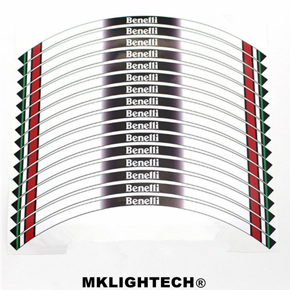 16 X Thick Edge Outer Rim Sticker Stripe Decals FIT BENELLI BENELLI in Decals Stickers from Automobiles Motorcycles