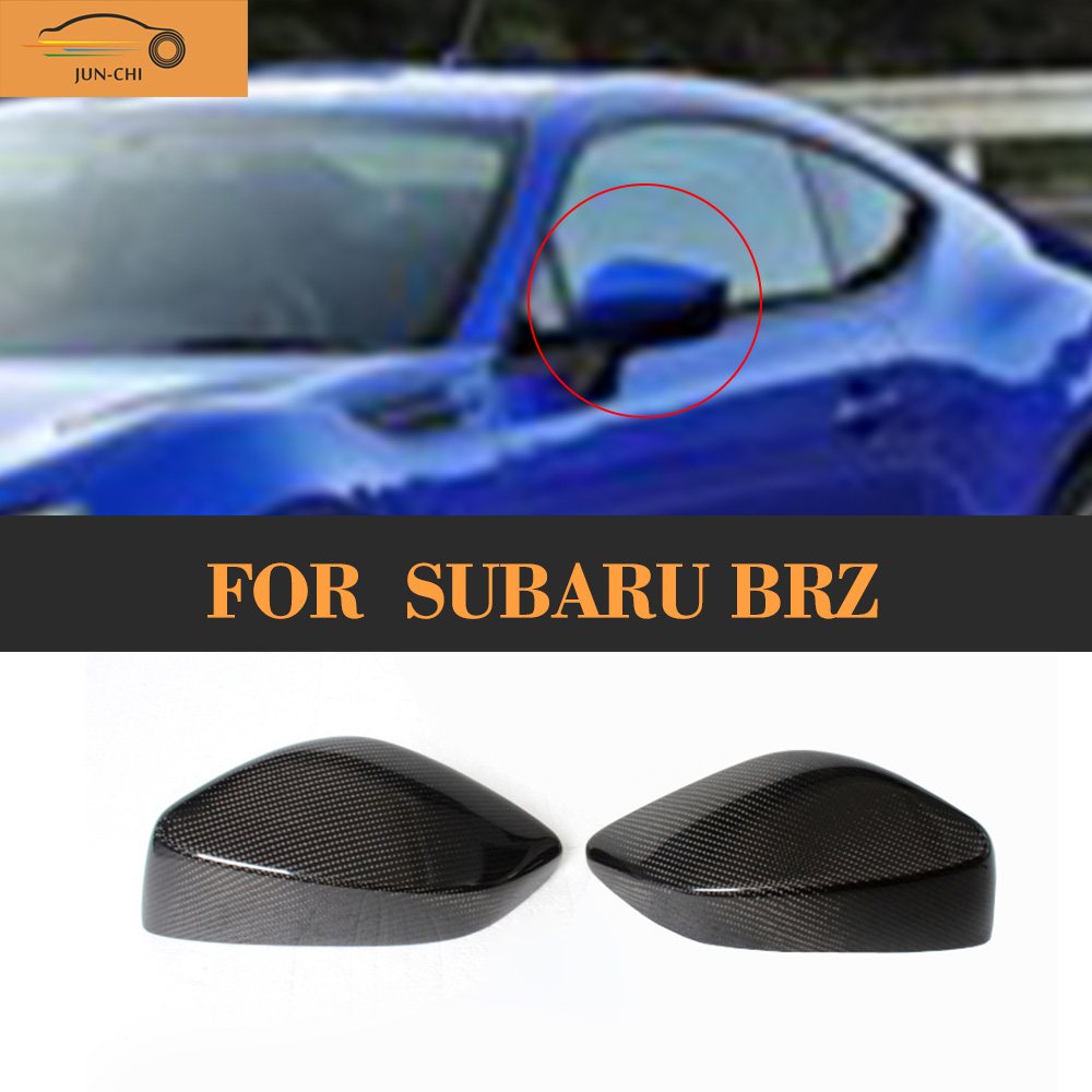 Carbon Fiber Review Mirror Covers caps for Toyota GT86 11-13 For Subaru BRZ 2011 2012 2013 Add On Style