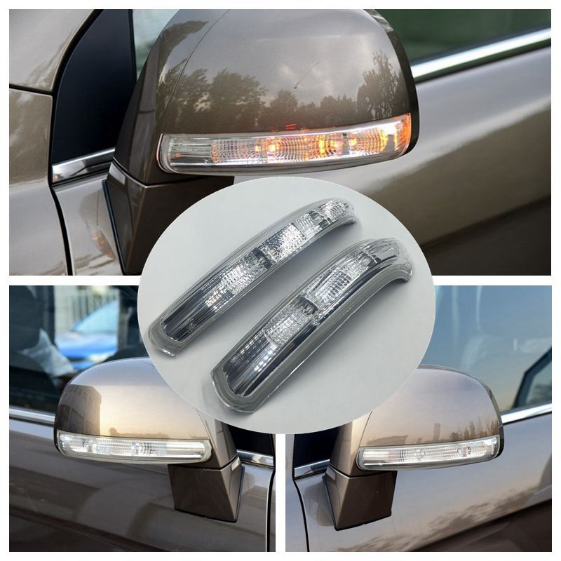 Cafoucs 1 Piece High Quality Car Rear View Mirror Front Turn Signals Side Mirror LED Lamp For Chevrolet Captiva 2007-2015 Year