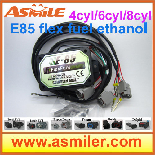E85 Converter (plastic Case) 8cyl EV1 (EV6, NIP, DLP, TO1, NH1) -- Cold Start Asst., Kit E85 Fuel