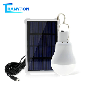 Portable Solar Light 12W 15W Rechargeable 5V LED Bulb Useful Energy Saving Solar Panel Lamp For Outdoor Camping Tent Solar Bulbs(China)