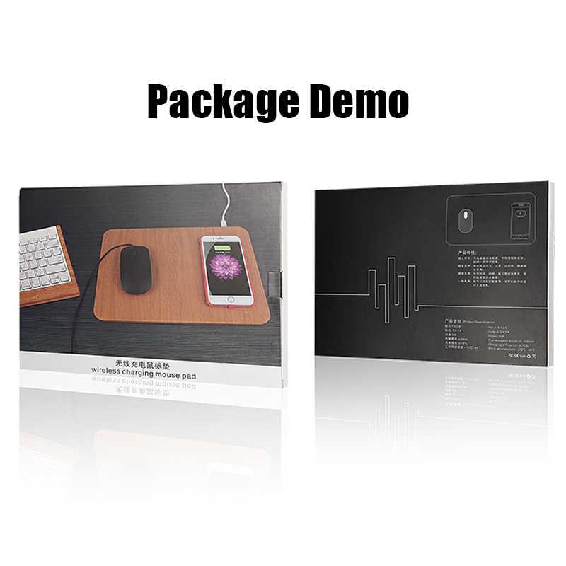 10W Nirkabel Cepat Pengisian Charger Mouse Pad Tikar untuk iPhone X XS Max XR 8 Kulit Induksi Charger Mousepad untuk Samsung S8 S9