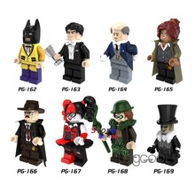 1PCS model building blocks action superhero Batman Bruce Wayne Alfred Harley Quinn Riddler Penguin toys for children gift(China)