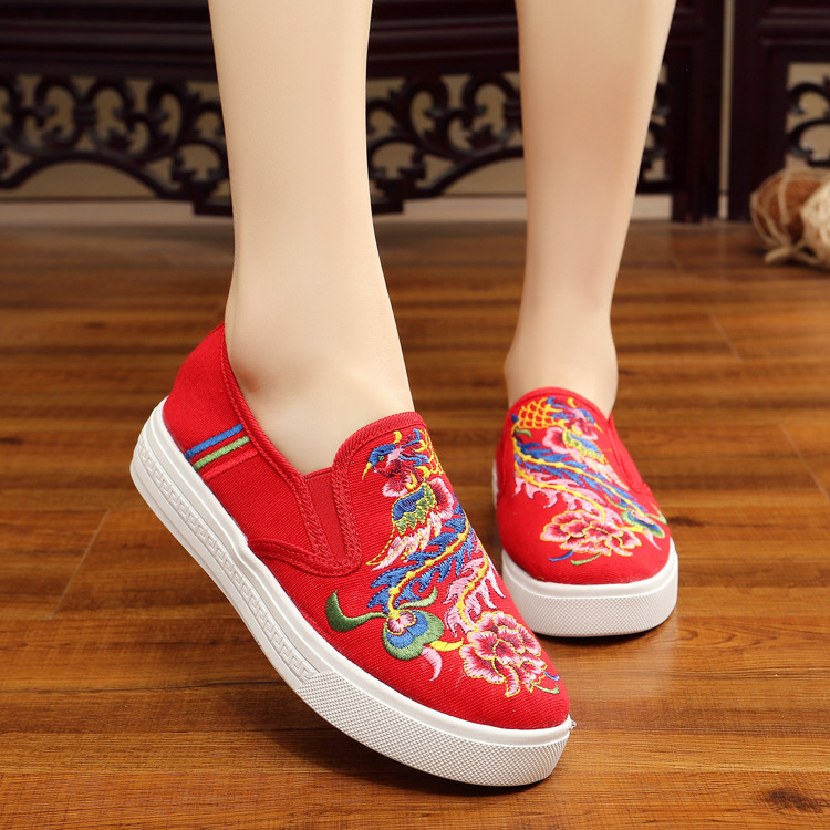 Flor Pie Las De rojo Del Algodón Planos En Deslizamiento Mujer Dedo Telas Casual Tamaño azul blanco Redondo Zapatos Nuevo Flats 2017 Negro Mujeres Más Cielo Cómodos Estudiante Negro qXEUOFw5