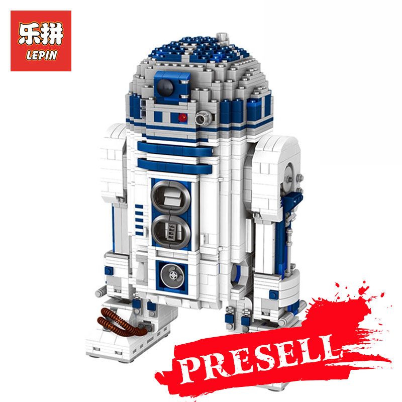 Lepin 05043 Star Genuine Wars Series 2127Pcs The R2 Robot Set Out of print D2 Building Blocks Bricks for Children Toys 10225 riggs r library of souls