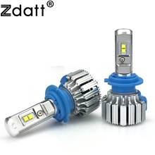 Zdatt 2Pcs Super Bright H7 Led Bulb 70W 7000Lm Auto Headlights Car Led Light 12V Canbus 6000K White Automobiles Lamp