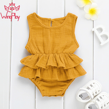 2019 Baby Clothes Bodysuits Solid Newborn Cotton Sleeveless Bodysuit For Boys/Girls 1 Piece #GY