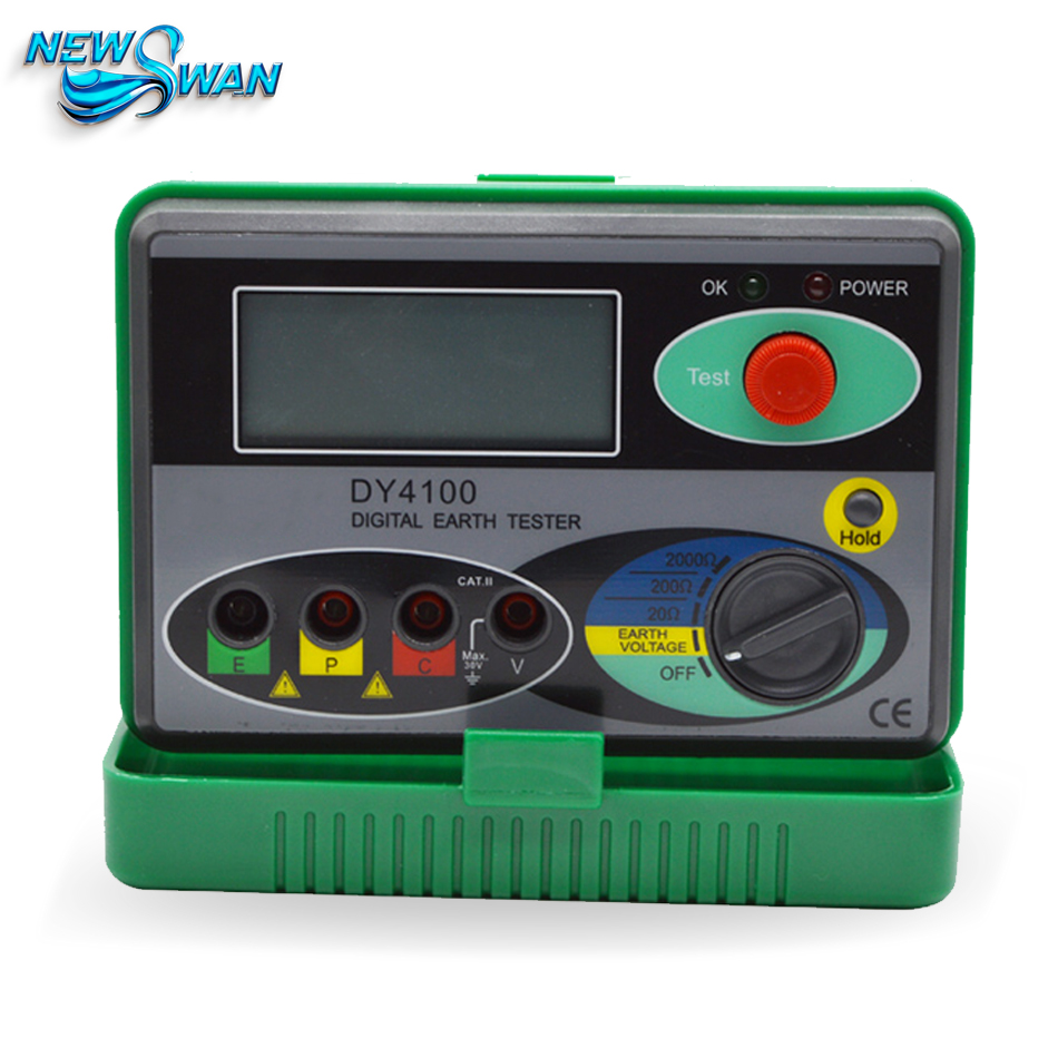 DY4100 Real Digital Resistance Tester Earth Tester Ground Resistance Tester Meter Instrument 0-2000omh fast arrival dy4100 real digital earth tester ground resistance tester meter 0 2000ohms