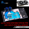 Bykski uso del bloque de agua para EVGA GTX1080/1070 FTW/GTX1070 Ti FTW Ultra GAMING/gráficos completa radiador de cobre tarjeta RGB bloque