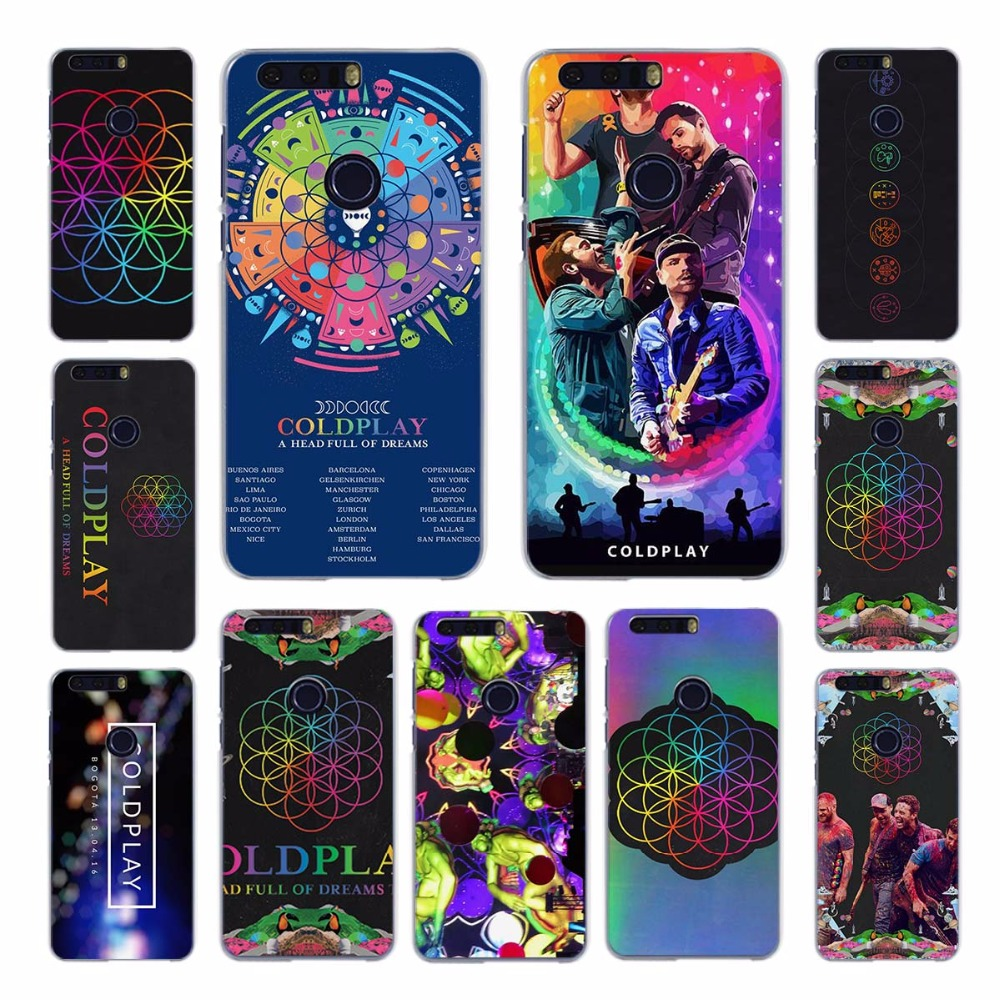 Coldplay A Head Full of Dreams design transparent hard case cove for Huawei Honor 4 4C 4X 5 5C 5X 6 6Plus 7 8 V8 Ascend G7 G8