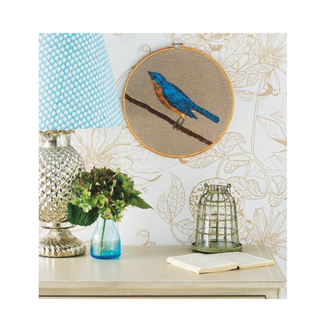 Creativo decoración de la pared del bordado de bambú aros cruz sin ...