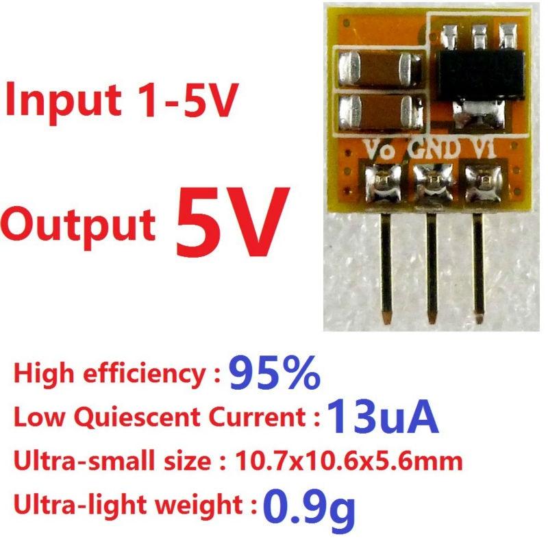 Высокоэффективный минимодуль преобразователя постоянного тока для Arduino UNO MEGA2560, 600 мА, низкий ток в рабочей точке, 1-5 В, 3 в, 3,3 В до 5 В постоянно...