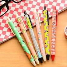 6pcs/lot Cute Fun cartoon graffiti  pen Creative Stationery Student Office Pens kawaii Reward papelaria Gift Free shipping