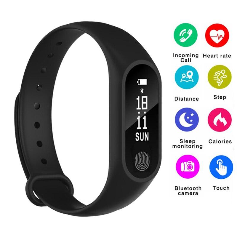Smart Band Wasserdicht Band Herz Rate Monitor Smart Armband Fitness Tracker Pedometer-Armband für Frauen Männer Sport Uhr