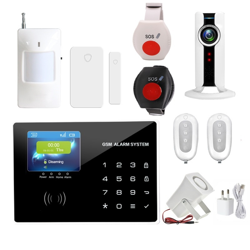 Home anti burglar security GSM Alarm System IOS/Android App control Autodial Home Security alarm system burglar alarm With SOS