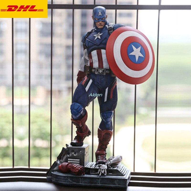21 Avengers Infinity War Superhero Statue Captain America Bust Full-Length Portrait GK Action Figure Model Toy BOX 54 CM Z42421 Avengers Infinity War Superhero Statue Captain America Bust Full-Length Portrait GK Action Figure Model Toy BOX 54 CM Z424