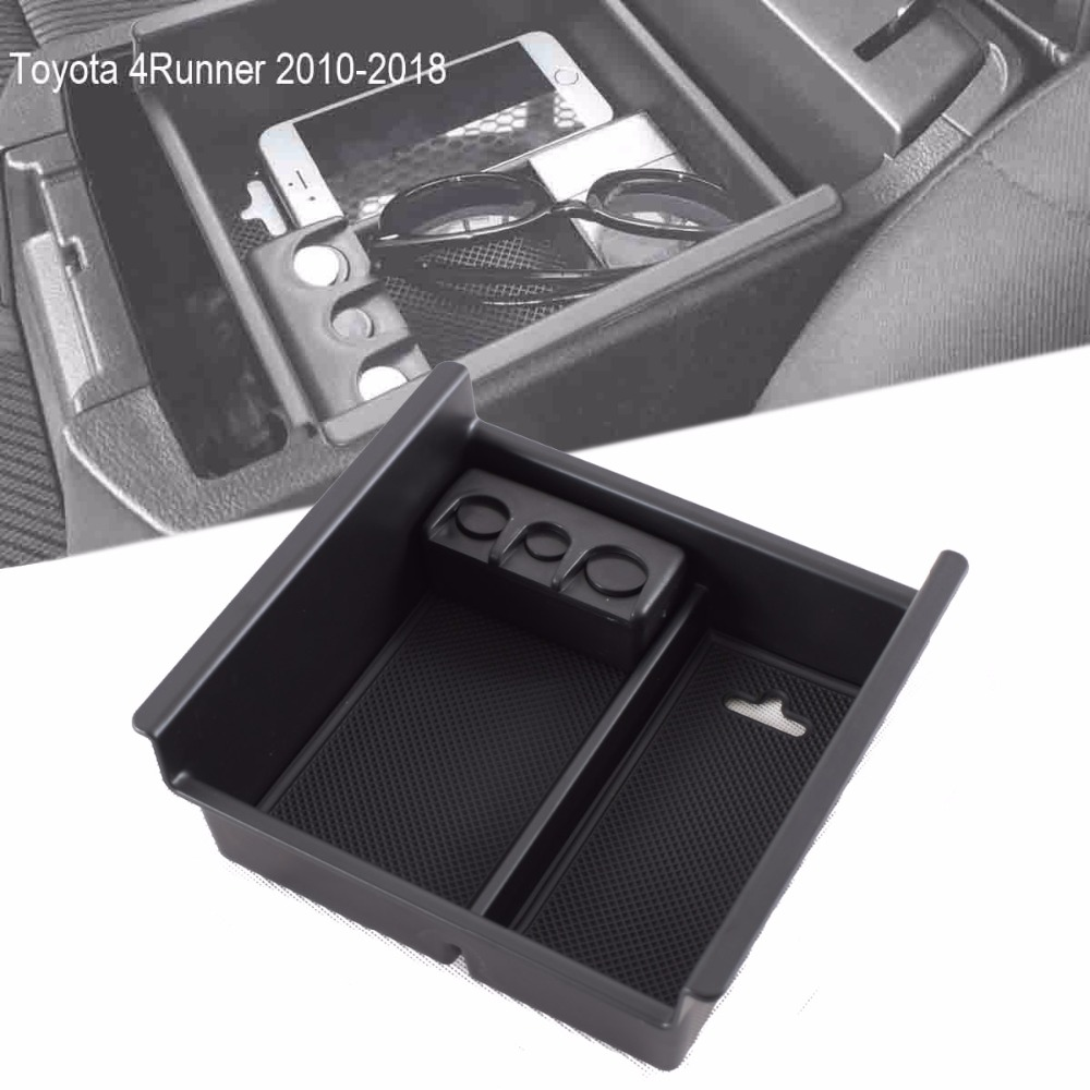 Center Console Tray Organizer Box Armrest Storage Box with Coin Holder
