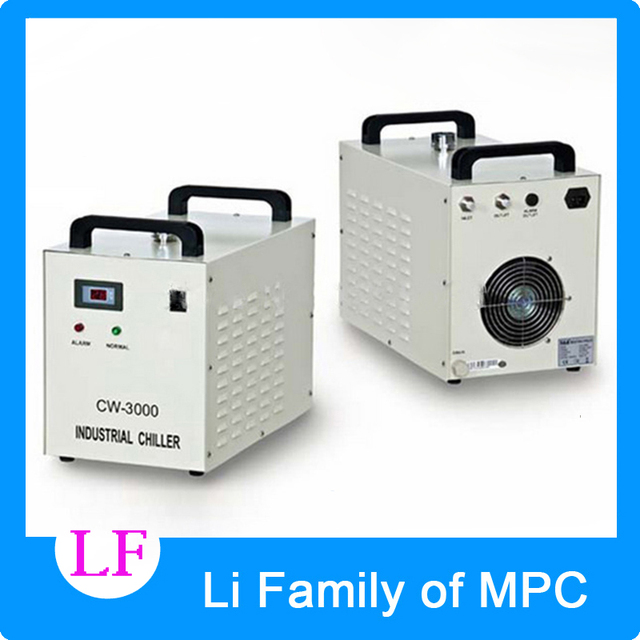 110V 50Hz Air Cooled Industrial Water Chiller With 80W CO2 Laser Tube Economic Cooling Laser Equipment CW-3000DG