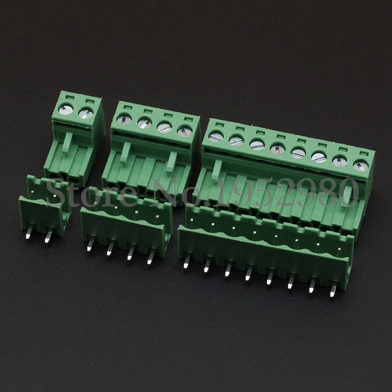 20 Set 5.08MM Pitch PCB Pluggable Terminal Block Connector 2/3/4/5/6/7/8/9/10P Right Angle Open KF2EDGK Green 10 pcs 2 3 4 5 6 7 8 9 10p dual row 2 54mm pitch smd type surface mount dip switch